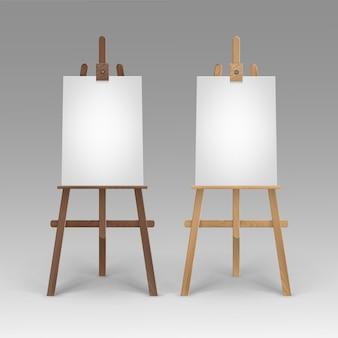 Conjunto de cavaletes sienna de madeira marrom