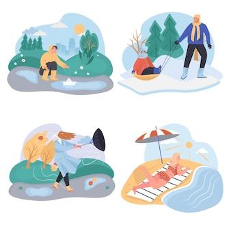 Conjunto de cenários de diferentes condições climáticas