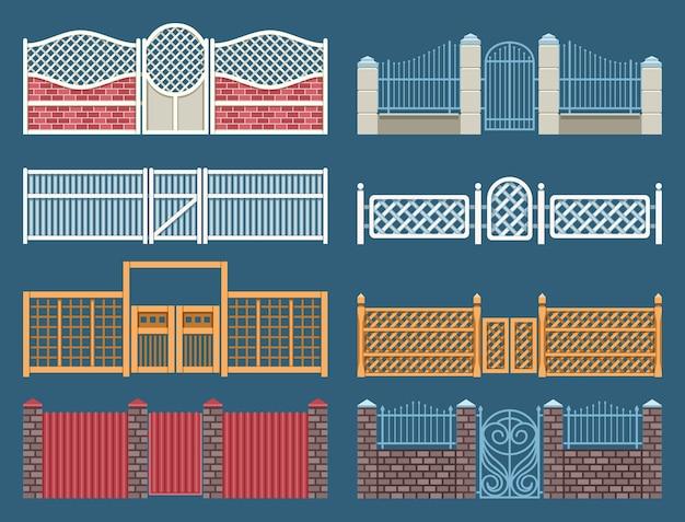 Conjunto de cercas e portões