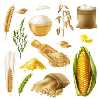 Conjunto de cereais