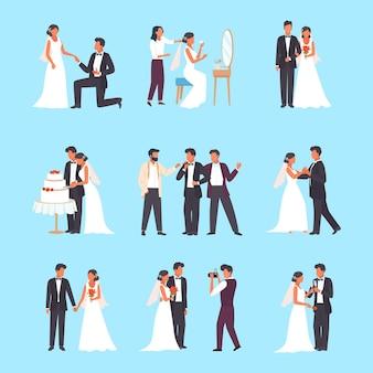 Conjunto de cerimônia de casamento