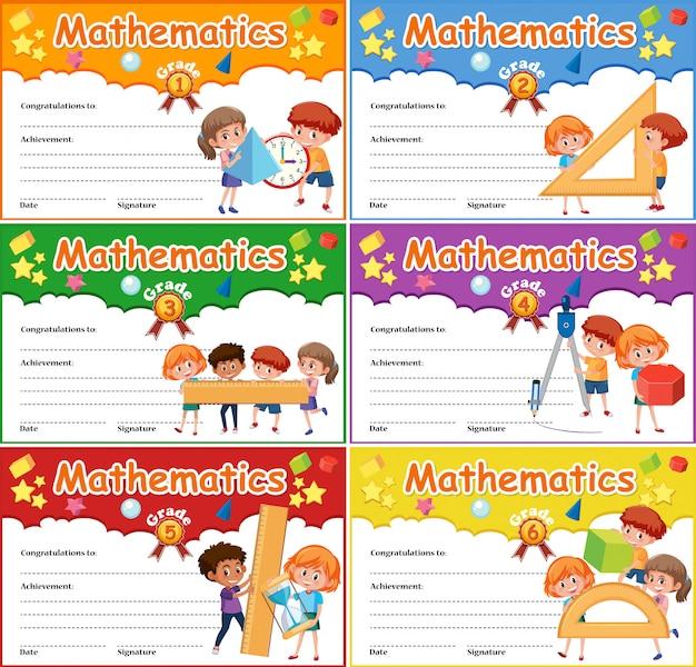 Conjunto de certificado matemático