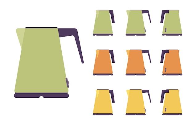 Conjunto de chaleira elétrica, utensílios de cozinha