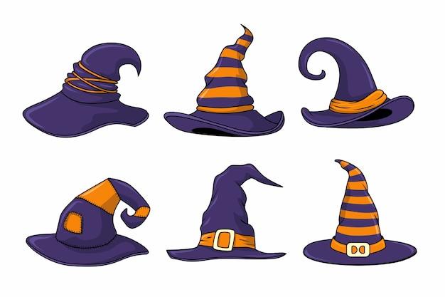 Conjunto de chapéu de bruxa