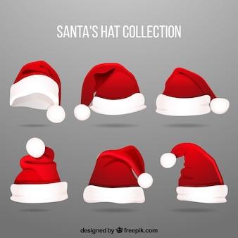 Conjunto de chapéu de papai noel