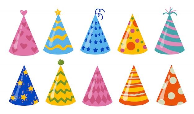 Conjunto de chapéus de aniversário