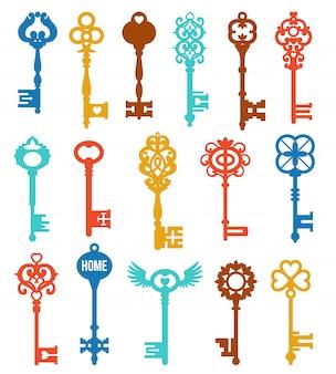 Conjunto de chaves coloridas