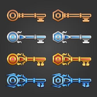Conjunto de chaves de classificação do jogo