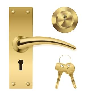 Conjunto de chaves de maçaneta da porta