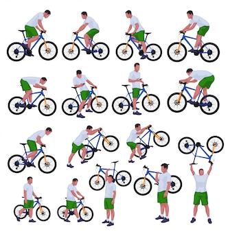 Conjunto de ciclista