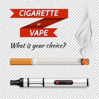 Conjunto de cigarros realista