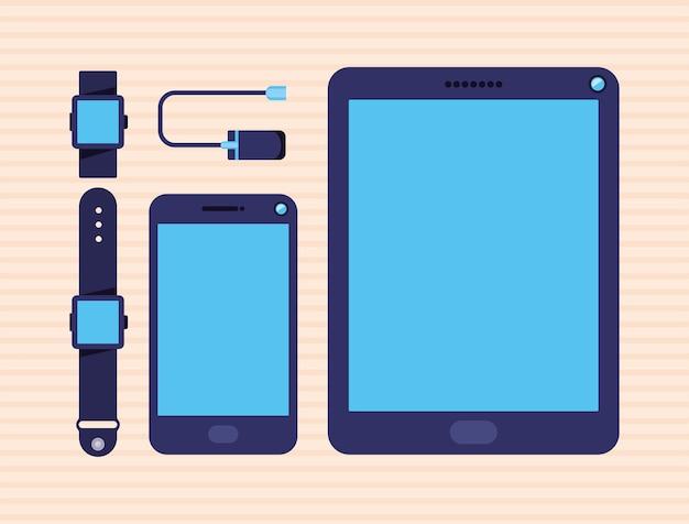Conjunto de cinco dispositivos inteligentes