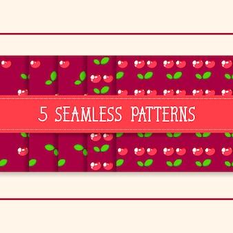 Conjunto de cinco padrões sem emenda