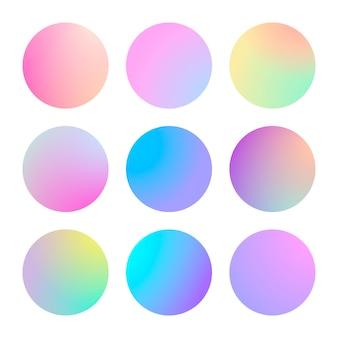 Conjunto de círculo abstrato gradiente moderno