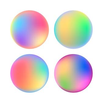 Conjunto de círculos com gradientes coloridos