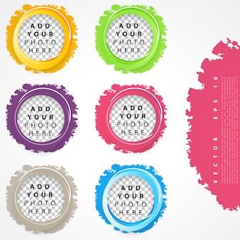 Conjunto de círculos de cores.