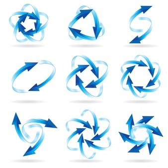Conjunto de círculos de seta