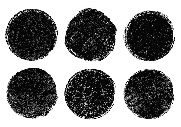 Conjunto de círculos do grunge
