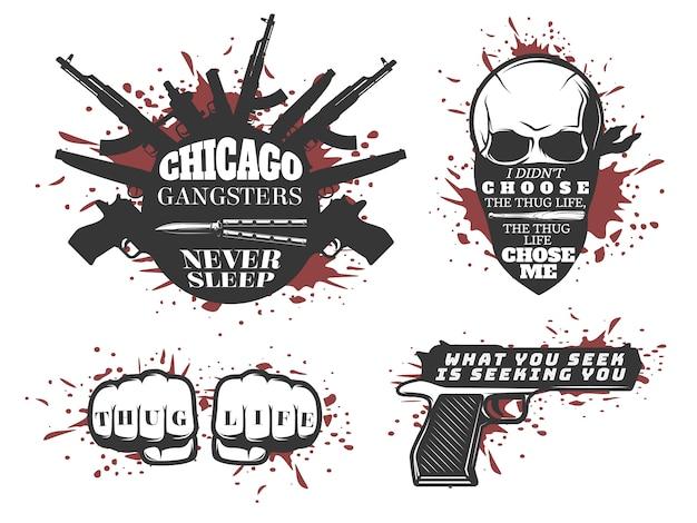 Conjunto de citações de gangster de chicago