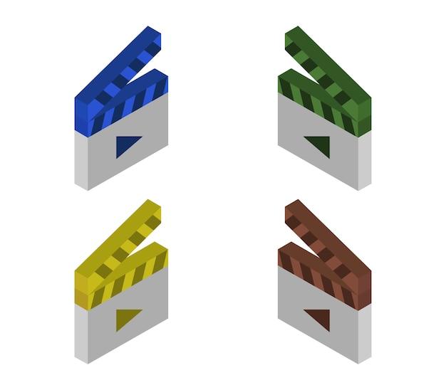Conjunto de claquetes isométricos