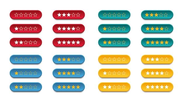 Conjunto de classificação de estrelas para avaliar a qualidade do serviço oferecido