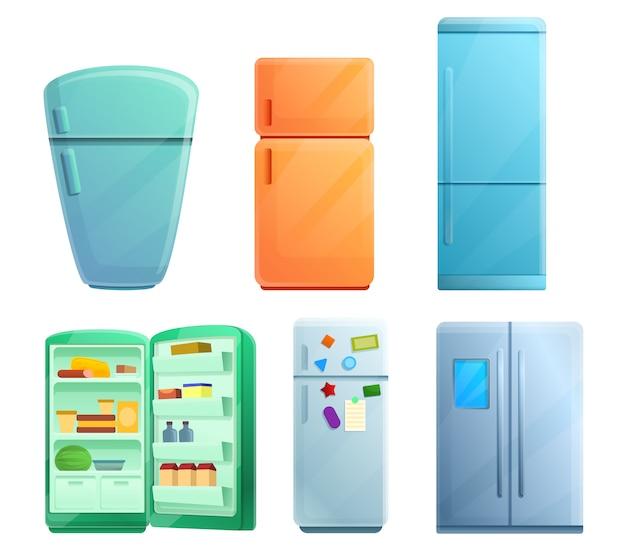 Conjunto de clip-art de geladeira, estilo cartoon