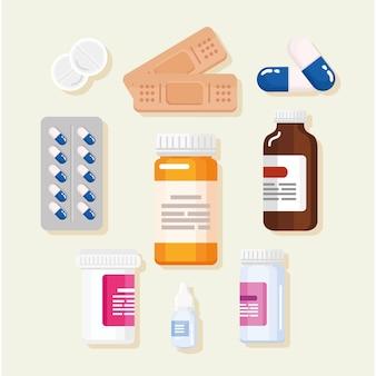 Conjunto de clipart de medicamentos