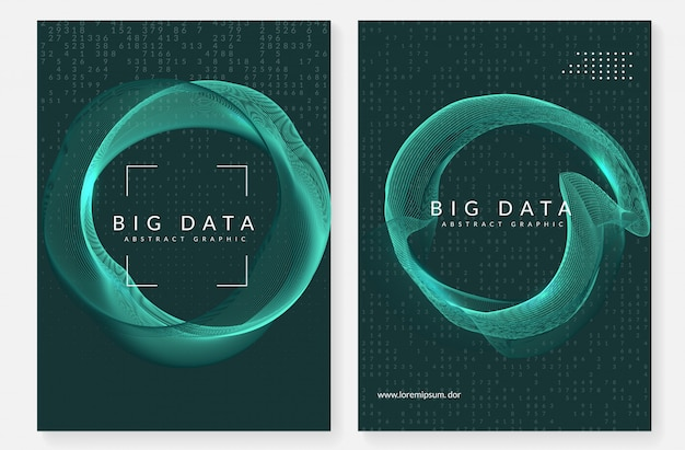 Conjunto de cobertura de big data de tecnologia