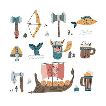 Conjunto de coisas viking