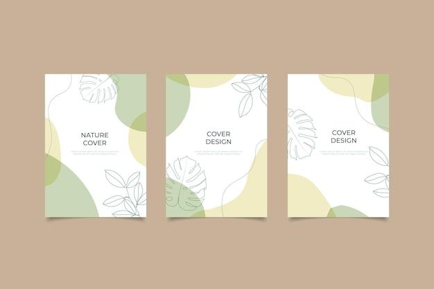Conjunto de coleção de capa criativa da natureza