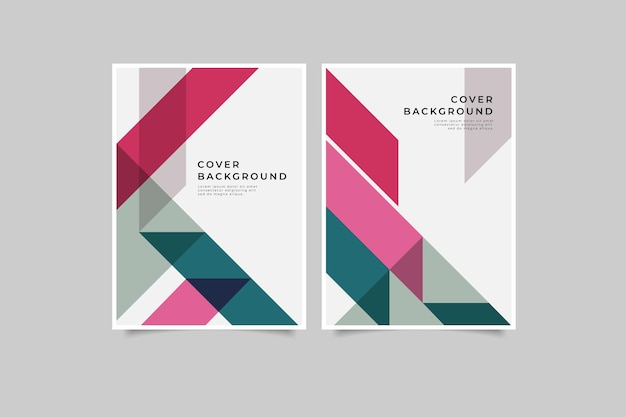 Conjunto de coleção de capa geométrica retrô