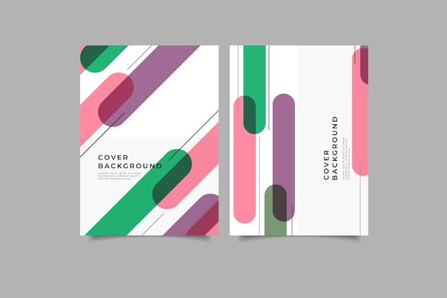 Conjunto de coleção de capa geométrica