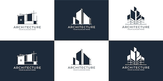 Conjunto de coleção de conjunto de arquitetura de construção