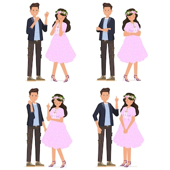 Conjunto de coleção de conjuntos de poses de casal