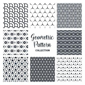 Conjunto de coleção de design de vetor de padrões sem emenda