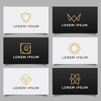 Conjunto de coleção de logotipo criativo simples minimalista.