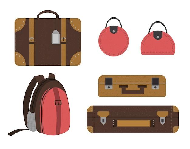 Conjunto de coleção de malas de viagem