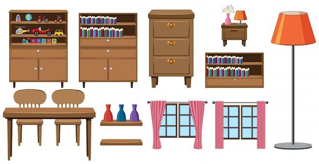Conjunto de coleção de móveis para casa