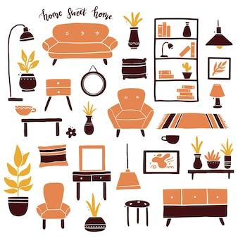 Conjunto de coleção de móveis para sala de estar