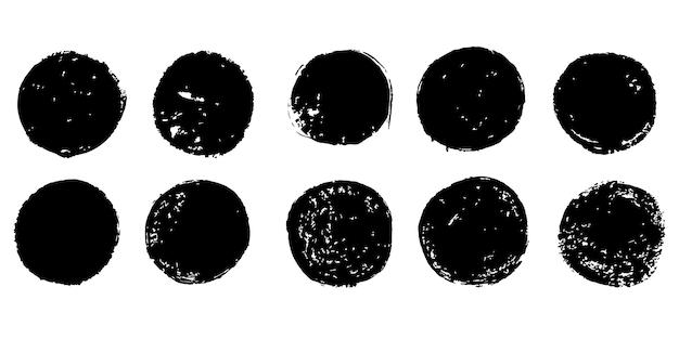 Conjunto de coleção de selos de postagem de grunge, círculos, ícones, banners, etiquetas de logotipos e emblemas isolados no fundo branco.