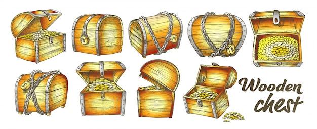 Conjunto de coleta de baú do tesouro