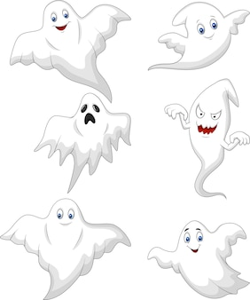Conjunto de coleta de desenhos animados fantasma bonito