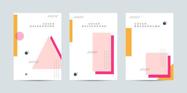 Conjunto de coleta de design de capa de memphis