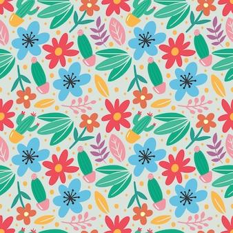 Conjunto de coleta de folhas de plantas e flores coloridas