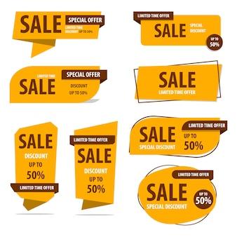 Conjunto de coleta de oferta de banner de venda de oferta especial