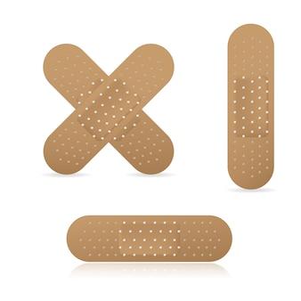 Conjunto de coleta de pensos elásticos de bandagem adesiva