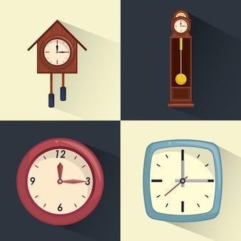 Conjunto de coleta de relógios
