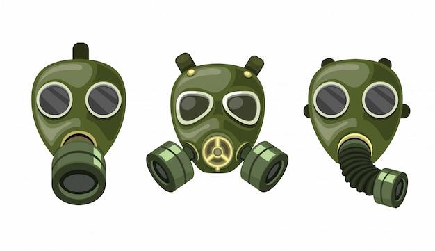 Conjunto de coleta de respirador de máscara de gás do exército