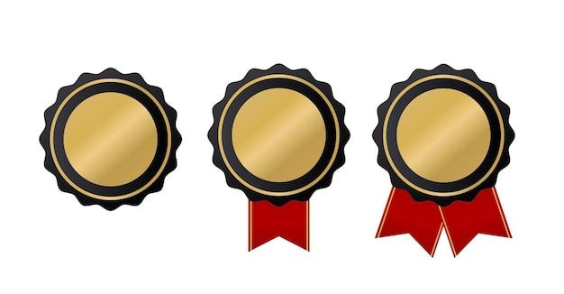 Conjunto de coleta de sinal de etiqueta de qualidade dourada de luxo