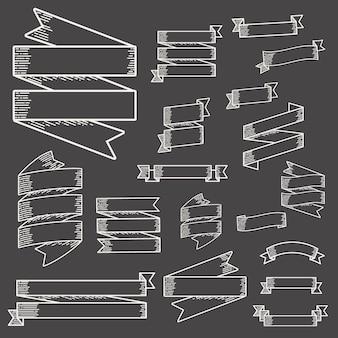 Conjunto de coleta de vetor de rótulo de faixa de opções de fita